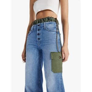 NWT Mother The Balloon Drawstring Cargo Jeans